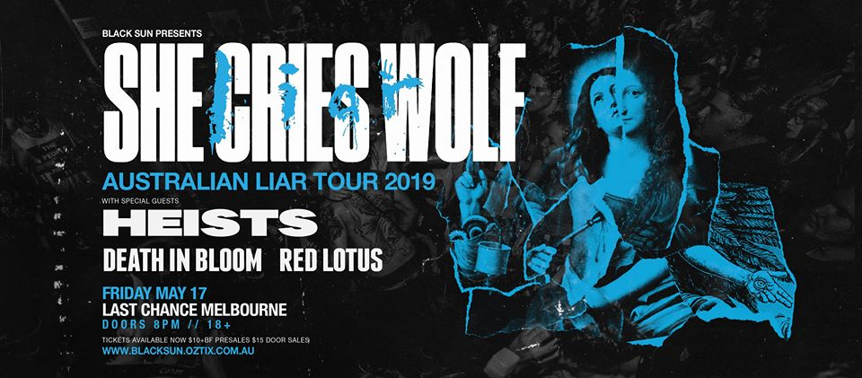 17/05 – She Cries Wolf w/ Heists, Death in Bloom & Red Lotus REVIEW